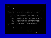 Beamrider for ZX Spectrum - Select a controller...