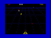 Beamrider for ZX Spectrum - Catch the yellow rejuvenator to earn an extra life.