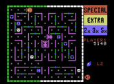 Lady Bug for ColecoVision - Each time the border makes a color cycle, another creature appears...