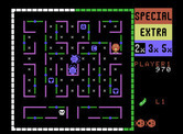 Lady Bug for ColecoVision - A dead end...but push the green wall to move it!