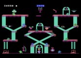 Bounty Bob Strikes Back! for Atari 5200 - Slides cause trouble for you on this level.