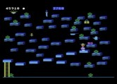 Bounty Bob Strikes Back! for Atari 5200 - When mutants are green the can be eliminated by touching them.