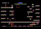 Bounty Bob Strikes Back! for Atari 8-bit - On the second level the elevator can help you navigate to different platforms.