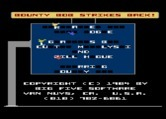 Bounty Bob Strikes Back! for Atari 8-bit - The title screen is assembled letter by letter.