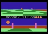 Ballblazer for Atari 7800 screenshot thumbnail - Oh no, my opponent is about to score again.