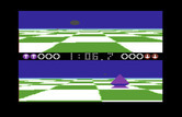 Ballblazer for Commodore 64 - Chasing the top player to the goal line...