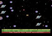 Astro Chase for Atari 5200 - Game over! The screen flashes different colors when the Earth is destroyed.