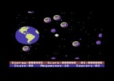 Astro Chase for Commodore 64 - Game start.