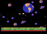 Astro Chase for Atari 8-bit - Oh no, I'm surrounded!