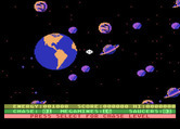Astro Chase for Atari 8-bit - Game options screen.
