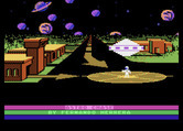 Astro Chase for Atari 8-bit - Title screen.