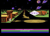 Astro Chase for Atari 8-bit - Starting screen (Parker Brothers release).