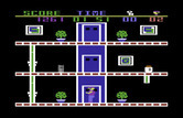 Heist, The for Commodore 64 - Use the elevator to reach the 2nd and 3rd floors.