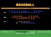 RealSports Baseball  for Atari 5200 - Title screen and game options.