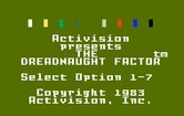 Dreadnaught Factor, The for Intellivision - Title screen.