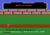 Activision Decathlon, The for Atari 5200 - Starting screen; the game title and credits scroll along the bottom of the screen.