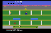 Keystone Kapers for Atari 2600 - Chasing Harry Hooligan.