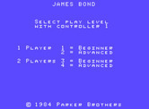 James Bond 007 for ColecoVision - Title screen.