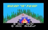 Bump 'N' Jump for Intellivision - Title screen.