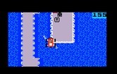 Bump 'N' Jump for Intellivision - Jumping over a section of water...