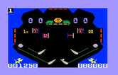 Pinball for Intellivision - The blue screen is the top of the pinball table.