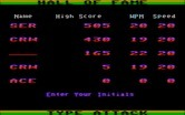 Type Attack for IBM PC/Compatibles screenshot thumbnail - Here's the high score table...