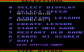 Type Attack for IBM PC/Compatibles screenshot thumbnail - The main game menu.