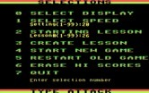 Type Attack for IBM PC/Compatibles screenshot thumbnail - The game allows you to choose an alternate CGA color palette.