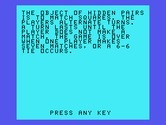 Oldies But Goodies - Games II for TI-99/4A screenshot thumbnail - Hidden Pairs: game instructions.