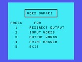Oldies But Goodies - Games II for TI-99/4A screenshot thumbnail - Word Safari: game menu.