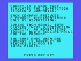 Market Simulation for TI-99/4A - Game introduction.