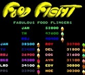 Food Fight for Arcade screenshot thumbnail - Attract mode; high scores.