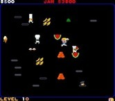 Food Fight for Arcade screenshot thumbnail - Pick up food to throw at the chefs...