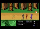 Ninja Golf for Atari 7800 - Tan ninjas can be tough to see in the woods...
