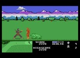 Ninja Golf for Atari 7800 - When you're in the rough, giant frogs appear!