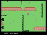 Front Line for ColecoVision - Navigate through the maze of walls and barbed wire.
