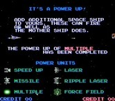 Life Force for Arcade screenshot thumbnail - The game's attract mode includes instructions on how to play.