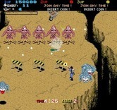 Real Ghostbusters, The for Arcade - A line of ghosts block the path...