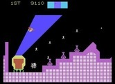 Cosmic Avenger for ColecoVision - Shoot those things on the ground to stop them from firing at you...