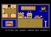 Hotel Alien for Atari 8-bit - Have some drinks at the bar.