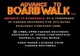 Advance to Boardwalk for Apple II screenshot thumbnail - Copyright information.