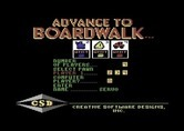 Advance to Boardwalk for Commodore 64 screenshot thumbnail - Setting up players for a new game.