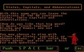 ALF's U.S. Geography for IBM PC/Compatibles screenshot thumbnail - Instructions for the states game...