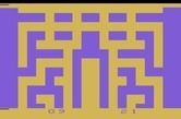 Entombed for Atari 2600 - Game over; the screen changes colors randomly.
