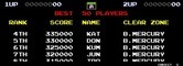 Darius II for Arcade - High scores.