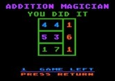 Addition Magician for Apple II screenshot thumbnail - I did it!