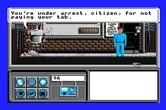 Neuromancer for Apple IIgs - I'm under arrest...oops, should have paid the bill...