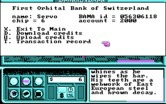 Neuromancer for IBM PC/Compatibles - Accessing your bank account.