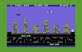 Save New York for Commodore 64 - You can chase aliens in the tunnels, but watch out for bombs falling above ground!