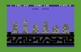 Save New York for Commodore 64 - Game over.